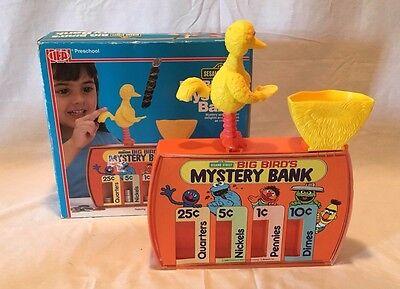 Vintage 1986 Ideal Toys Sesame Street Big Bird's Mystery Bank Rare
