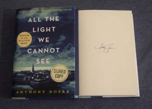Anthony Doerr Signed Autograph ALL THE LIGHT WE CANNOT SEE HC 1st Ed Book VD