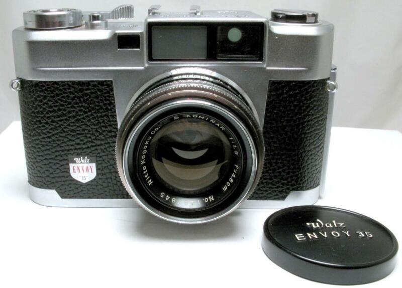 Walz Envoy 35 35mm Film Rangefinder w/ S Kominar 48mm 1.9 Lens & Case nr MINT
