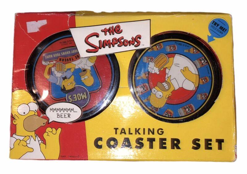 The Simpsons Talking Coasters Vintage