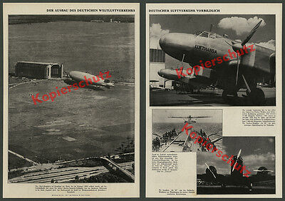 Zeno Diemer Zeppelin Weltflughafen Frankfurt Reichsautobahn Ju 86 Lufthansa 1937