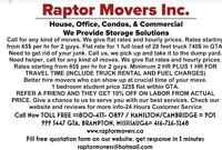 Movers available for next month.****