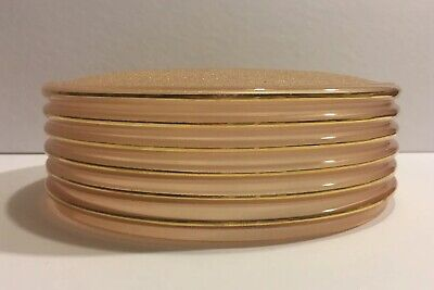 VINTAGE SALMON PINK FROSTED GLASS MID CENTURY CEILING LIGHT GLOBE SHADE WGOLD