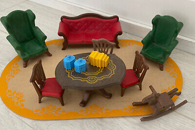 Playmobil Victorian Mansion House Sofa & Dining Table Living Room Furniture 5320