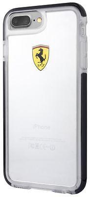 Ferrari iPhone 8 PLUS Hard Case: SHOCKPROOF Ferrari case transparent, BLACK trim