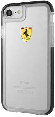 Ferrari iPhone 8 Hard Case: SHOCKPROOF Ferrari case (transparent, BLACK trim)