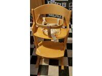 Babydan wooden highchair
