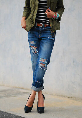 DIY Distressed Denim with Materials Buying Guide | eBay Diy Distressed Boyfriend Jeans