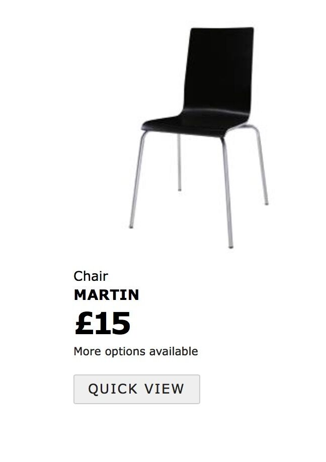 4 IKEA MARTIN chairs, black, as new!
