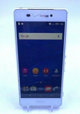 Sony Xperia Z3v - 32GB - White (Verizon) Cosmetic Defects, Back - Clean!
