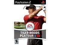 Tiger Woods PGA Tour 08 PS2 game