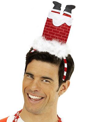 Mann Haar (Santa im Schornstein Weihnachtsmann Haarreifen Herren Weihnachtsfeier Nikolaus)