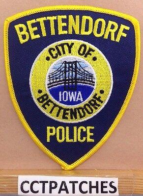 BETTENDORF, IOWA POLICE SHOULDER PATCH IA