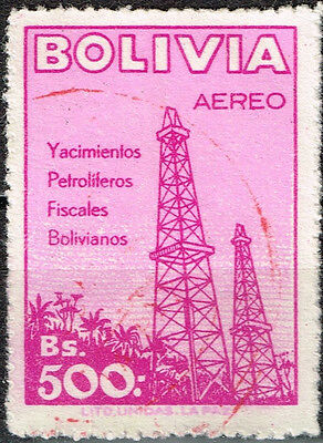 Bolivia Petroleum Oil And Natural Gas Exploration Stamp 1947