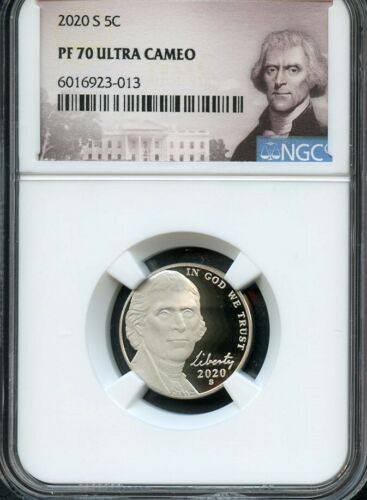 2020 S Jefferson Nickel NGC PF70 Ultra Cameo Portrait Label