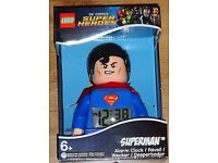 LEGO SUPERMAN DIGITAL ALARM CLOCK.