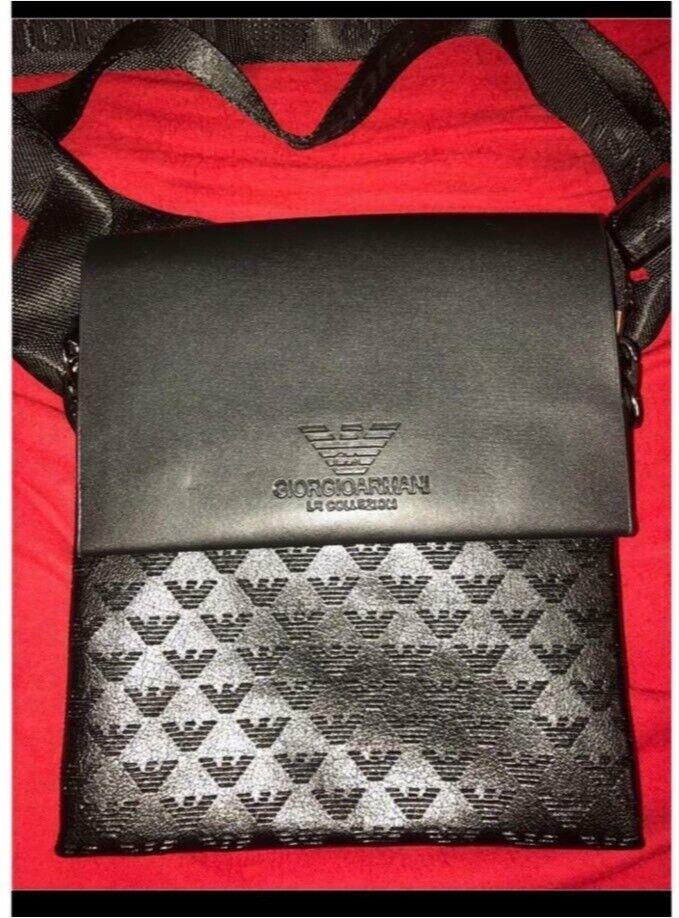 da61730a85 Giorgio Armani mens Messenger Bag Pouch Man Bag Crossbody black | in  Failsworth, Manchester | Gumtree