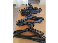 40+ black pastic hangers