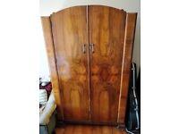 Large vintage/retro wooden wardrobe
