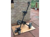 """""""Hill Billy"""" Electric Golf Trolley with Battery and Charger - used."""