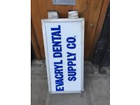 shop sign, light box, shop front sign perfect condition