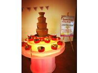 Deal 2 Amazing Led Chocolate Fountain & Sweet Cart Hire - Popcorn - Candyfloss Machine Wedding Party