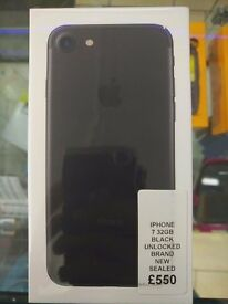 Iphone 7 32GB black brand new sealed unlcoked.