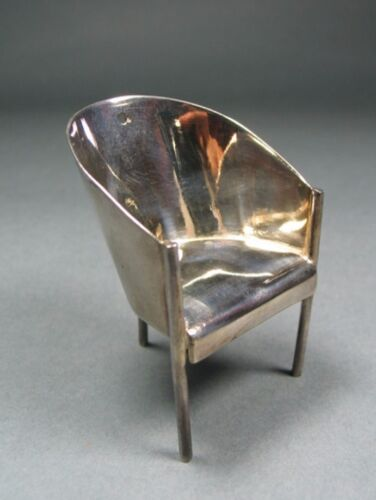 "Vintage ACME Studio Philippe Starck Mini Sterling Silver ""Costes"" Chair NEW"