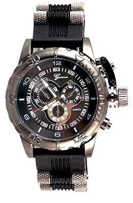 Outrageous Mens Geneva Oversized Designer Fashion Treat Watch
