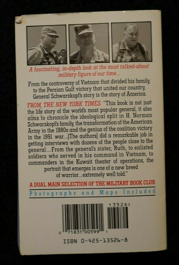 In The Eye Of The Storm The Life Of General H. Norman Schwarzkopf By... - $1.00