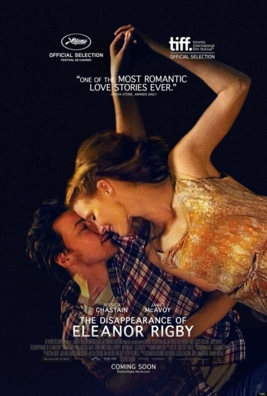 Disappearance of Eleanor Rigby Movie certified signed POSTER  Jessica Chastain