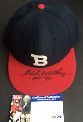 1f410895b08ab Eddie Mathews Rookie Signed Milwaukee Braves Hat Cap Hof 78 Mint 10 Auto  Psa COA