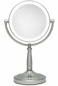 zadro 10x 1x cordless next generation led lighted vanity makeup mirror. Black Bedroom Furniture Sets. Home Design Ideas