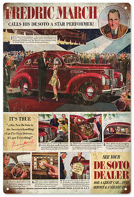 Fredric March Called His Desoto A Star Performer Advertisement Sign