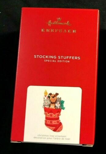 HALLMARK 2021 STOCKING STUFFERS REPAINT RED SPECIAL EDITION ORNAMENT NEW IN BOX