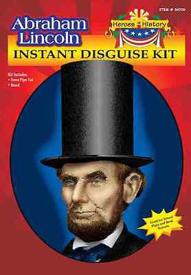 New Abraham Lincoln Heroes in History Instant Disguse Kit Forum 54709 Costumania