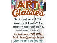 Art Classes at Knuston Hall with Artist Jamie Poole