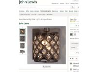 John Lewis Gigi wall light Rrp£65 crystal finish metal
