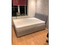 FAST LONDON DELIVERY -DOUBLE DIVAN BASE WITH ORTHOPEDIC MATTRESS SAME DAY