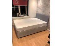 Supreme Quality Furniture DOUBLE DIVAN BED + DEEP QUILT MATTRESS & HEADBOARD /DRAWERS OPTION