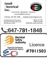 Electrician- : 647-781-1848