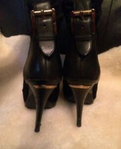 Michael kors black dress ankle boots