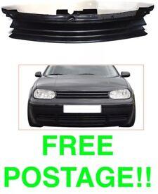 Volkswagen gold mk4 sport front grill tuning debadged 97 - 05 FREE UK POSTAGE