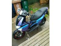 Gilera runner 70cc stage6 kit with ULTRA VIOLET TO NEON BLUE PAINT JOB