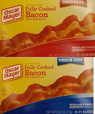 (Oscar Mayer Fully Cooked Bacon Thick Cut Or Original 2.52oz ( 71g))