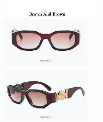 2019 European Designer Retro Rectangular Medusa Sunglasses Brown/Brown Lenses (European Sunglasses)