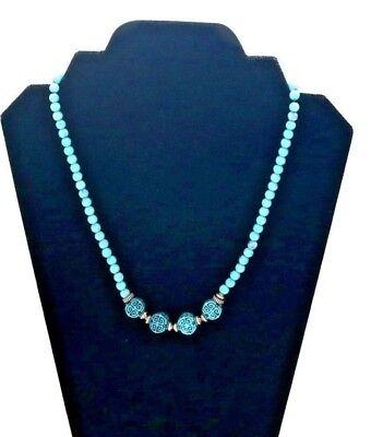 NEW Fashion JEWELRY Turquoise Nepal Design Tribal Gypsy Boho Big Bead Necklace  ()