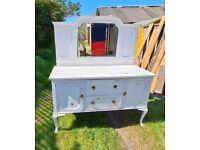 Vintage Shabby Chic Wooden Dresser