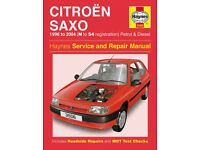 Haynes Workshop Manual Citroen Saxo 1996-2004 Service & Repair Petrol & Diesel