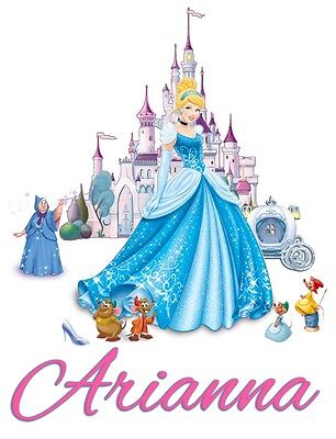 Cinderella Custom Youth t shirt Personalize Birthday gift Disney Princess castle](Personalized Disney Princess Gifts)